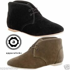 Lacoste Women's Haxby LEW Suede Casual Trainers Mid High Ankle Formal Shoes