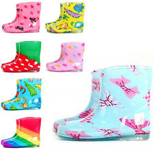 Children's Fashion Candy Colored Rain Boots New Waterproof Shoes Ankle Boots Q05