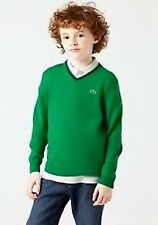 Pull-over LACOSTE, Vert, Manches Longues, Garçon, Taille 104-158