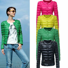New Women's Candy Color Light Weight Slim Fit Down Coat Overcoat Winter Jacket