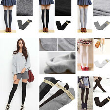 5 Colors Long Over The Knee Thigh High Lady Girl Work School Sexy Stocking Socks