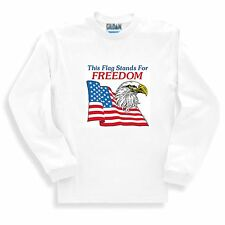 Patriotic Sweatshirt This Flag Stands For Freedom American Eagle U S A