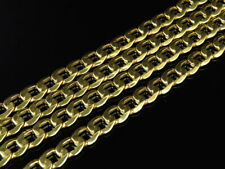 Mens Hollow 10K Yellow Gold 6.5 MM Cuban Curb Link Chain Necklace 18-28 Inches