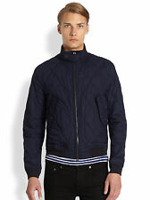 NWT AW13 BURBERRY BRIT Men's Quilted Bomber Jacket Size Small Navy Blue $695