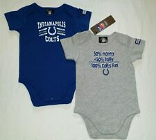 Indianapolis Colts Baby Infant Creeper Bodysuit 2 Pack  6/12M,18M NWT
