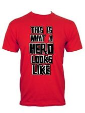New This Is What A Hero Looks Like Fathers Day Men's Red T-Shirt