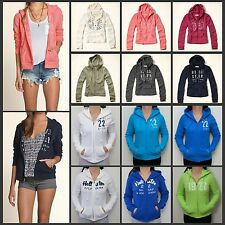 NEW Hollister Women 's Bay Park Hoodie Full Zip Sweat shirt By Abercrombie