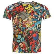 MENS MARVEL COMICS T SHIRT TOP  CAPTAIN AMERICA  SPIDERMAN THOR SUPERHERO
