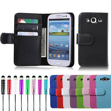 Wallet PU LEATHER CASE COVER FOR SAMSUNG GALAXY S3 i9300 SCREEN PROTECTOR Stylus