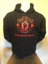 Manchester United FC England Red Devils Black Hooded Sweat Youth Adult all sizes