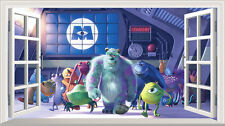 Monsters Inc Magic Window Image Wall Sticker Mural Poster multi size V1