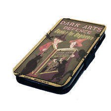 Dark Arts Defence Printed Faux Leather Flip Phone Cover Case