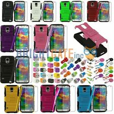 Rugged Heavy Duty Kickstand Case +For Samsung Galaxy S5 SV i9600  Accessory Set