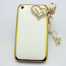 1x 3d bling leather owl cute diamond crystal case cover for iphone nokia lg htc
