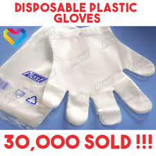 100x Plastic Disposable GLOVES PREMIUM POLYTHENE Catering Hairdressers Butchers