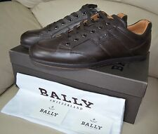 Bally ULMO Men's LO PRO Chocolate Flat Low Top Trainers Leather Sneaker