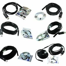 USB LED Borescope Endoscope Inspection Tube Visual Camera 2/5/7/10/15/20M New