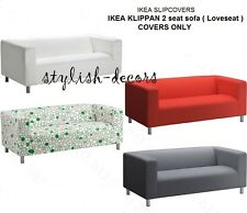 IKEA Slipcover KLIPPAN Loveseat COVER Leaby Yellow or Alme Natural NEW sealed