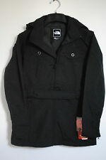 THE NORTH FACE WOMENS K JACKET BLACK TRENCH COAT RAIN COAT HOODED 2014 AUTHENTIC