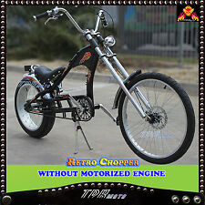 Retro Vintage Chopper Bicycle Beach Cruiser Pedal with in/out Motorized Engine