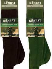 MILITARY COMBAT PATROL SOCKS THERMAL COMMANDO OLIVE GREEN BLACK SIZE 4 TO 13