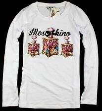 NWT Women's 19779 Moschino Colorful Perfume Bottle Pattern T-Shirts/Top 2 Colors