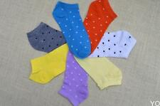 YO CA Women's Fresh Cute Polka Dot  Candy Colors Cotton Ankle Socks Soft Seasons