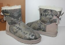 Ugg Mini Bailey Bow Snake Metal women's boots New In Box!