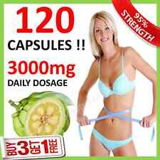 120 ◆ UK CHEAPEST WEIGHT LOSS GARCINIA CAMBOGIA CAPSULES 3000mg DAILY HCA 62%
