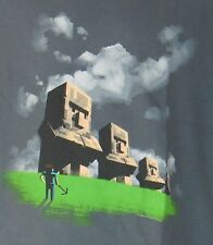 Boys Minecraft Statues T-shirt S-XL Offically Licensed JINX Mojang steve