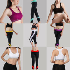 Baleaf Sports Women Athletic Yoga Fitness Workout Tank Top Pants Leggings Bra
