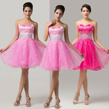 ❤CHEAP❤Strapless Formal Bridesmaid Wedding Prom Gown Party Evening Short Dresses