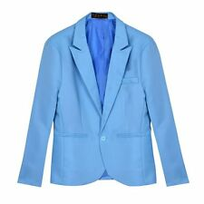 Casual Men One Button Candy Color Slim Fit Suit Coat Jacket Blazer Outerwear