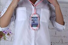 universal silicone lanyard Case Cover flexible holder fr iphone 4 5 6/6S/7 Plus