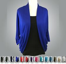 NWOT ZENANA 8400 Rayon Open Front Cardigan Knit 3/4 sleeves 1X 2X 3X