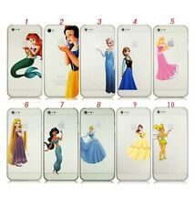 Disney Princess Elsa Tinkerbell Ariel Snow White Jasmine Belle iPhone 4 5 Case