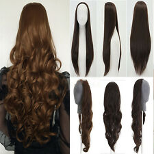 Mega long 3/4 Hair Wigs Fashion Half Wig Clip In On Hair Piece US 30% discount