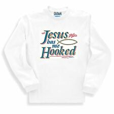 Christian SWEATSHIRT Jesus has me Hooked