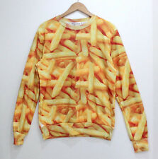 French Fries Tide 3D Printed Sweater For Women Men Sweatshirts Tops Long  Sleeve