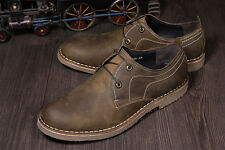 Men's Vintage Genuine Leather Shoes Casual Business Shoes Crazy Horse Leather