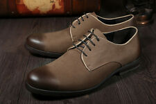 Men's Real Cowhide Leather Shoes Lace Up Casual Office Business Work Wear Tiding
