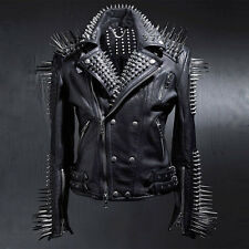 BytheR Men's Masterpiece Fashion Glam Unic Stud Black Jacket SFSELFAA0021031 UK