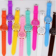 Classic Unisex Geneva Jelly Gel Silicone Rubber Belt Analog Quartz Wrist Watch