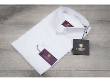 Liberty of London £110 White Short Sleeve Button Down Shirt Made In Italy