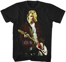 KURT COBAIN - Red Jacket Guitar T SHIRT S-M-L-XL-2XL New Official - Nirvana