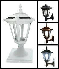 6-Pack Solar Hexagon Lights With  Wall Mount or  Fence Post Cap Base - New Model