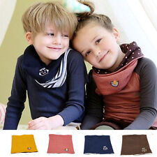 Kid Baby Winter Warmer Neck Gaiter Wraps Beanie Scarf Muffler-Knited Neckerchief