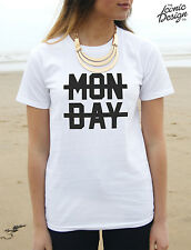 * Monday Crossed Out T-Shirt Top 1D Niall Horan I Hate Sucks Fangirl Dope Fresh*