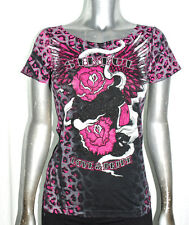 IR SINFUL AFFLICTION guns & roses SMOKING BEAUTY wide neck WHIP STITCH Tshirt *M