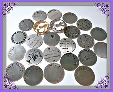 22MM STAINLESS STEEL PLATE FOR 30MM FLOATING LOCKETS U.S. SELLER FREE SHIPPING
